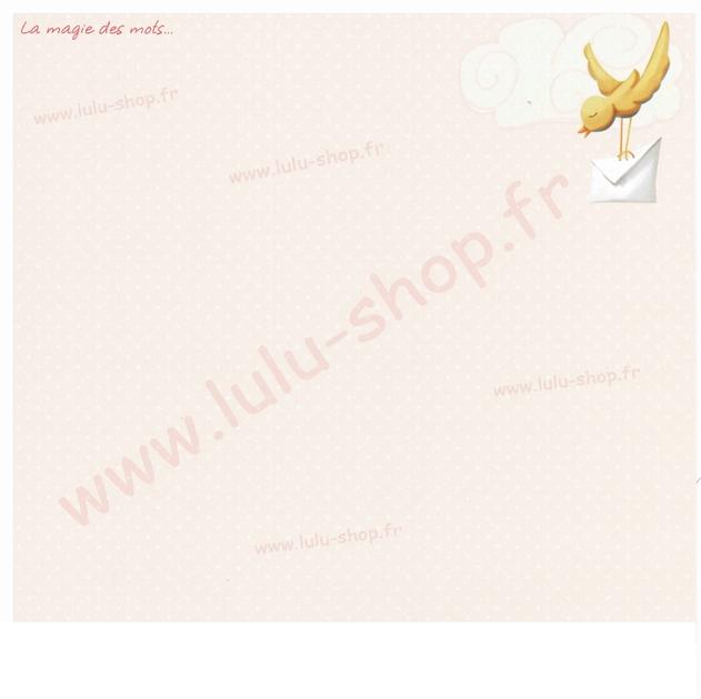 www.lulu-shop.fr carte postale La magie des mots