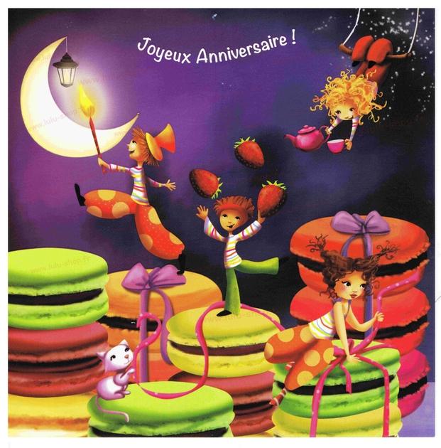 www.lulu-shop.fr carte postale Le cirque magique