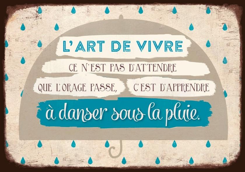Carte Postale  L'art de vivre ce n'est pas d'attendre que l'orage passe lulu shop