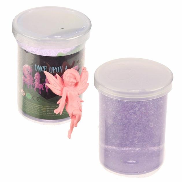 Pâte Gluante Slime violette avec Figurine Fée