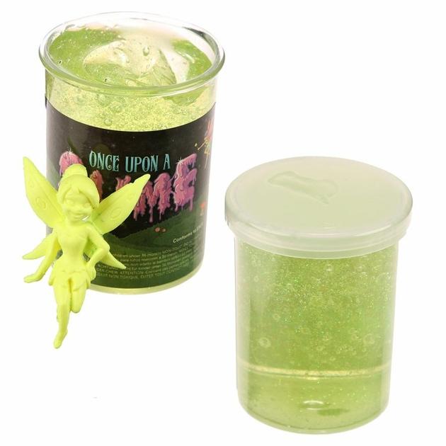 Pâte Gluante Slime verte avec Figurine Fée