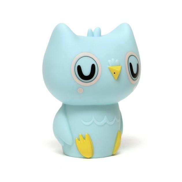 Owl night light baby blue 2