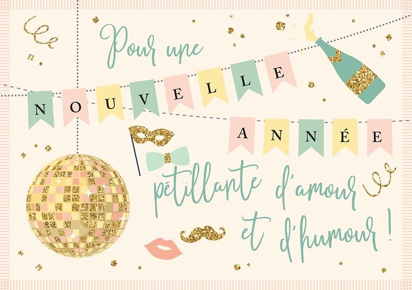 Lulu-Shop.fr Cartes postales Pour une nouvelle année pétillante d'amour et d'humour 3326322