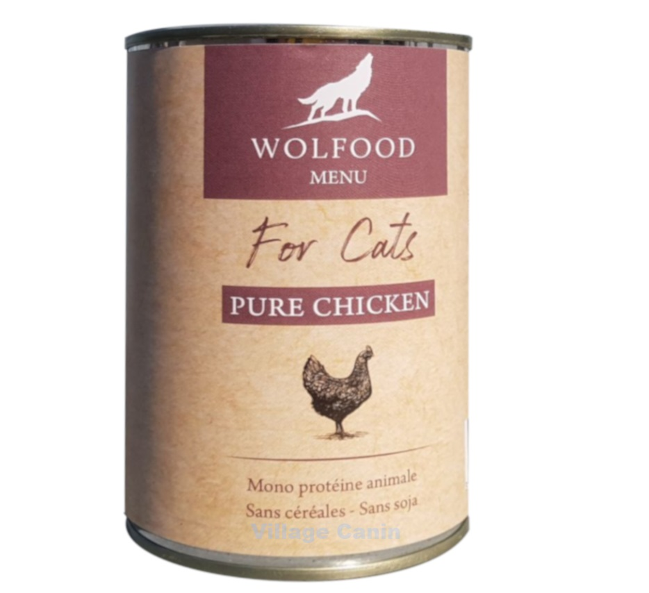 Wolfood patee chat poulet 400gr