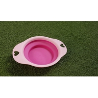 Gamelle Pliable rose Diam.19,5cm