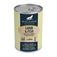wolfood patee lamb fish agneau et poissons