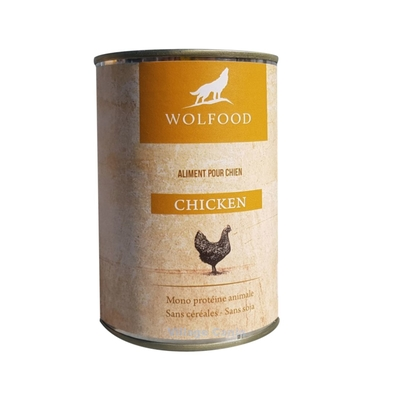 patee chien poulet wolfood 400gr