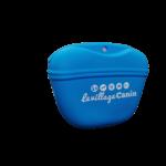 Pochette friandise chien silicone bleue