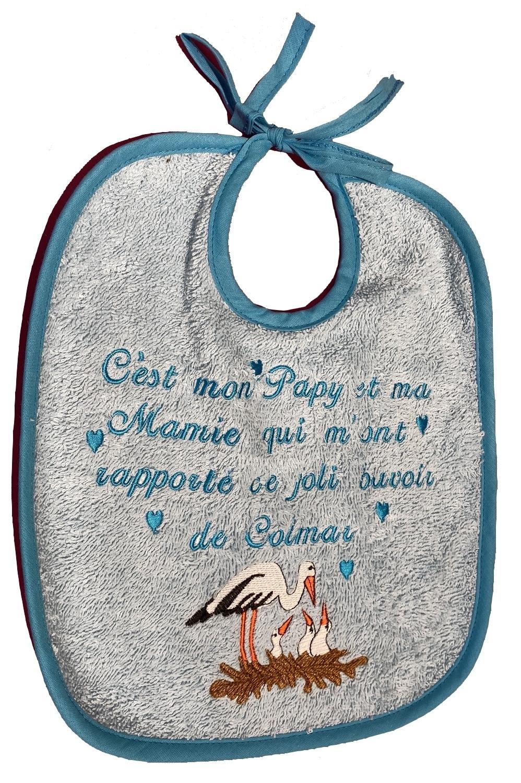 BAVOIR ARTISANAL BLEU DE MAMIE ET PAPY
