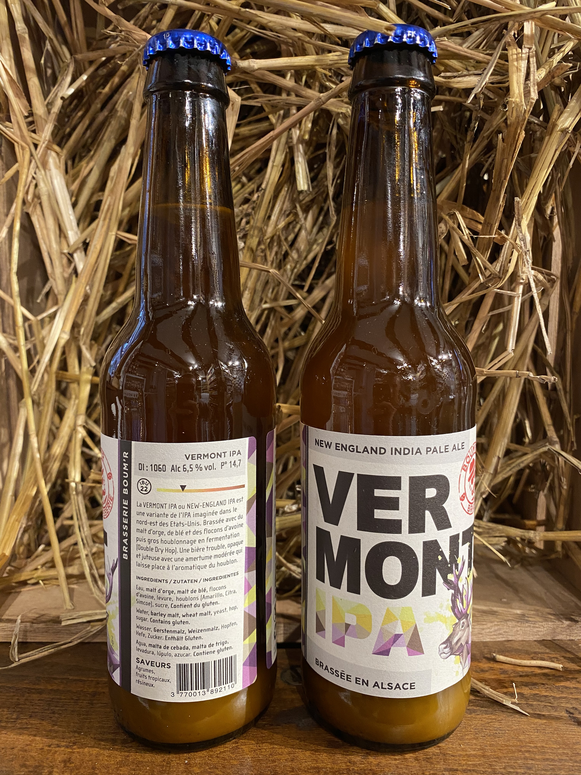 BIERE BOOM\'R 33CL BLONDE VERMONT NEW ENGLAND IPA
