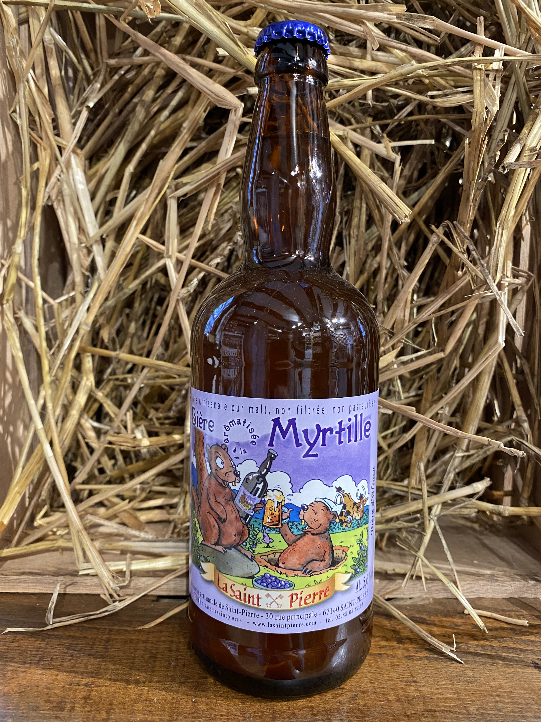 BIERE SAINT PIERRE 50CL BLONDE À LA MYRTILLE
