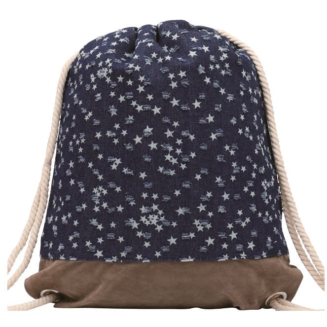 GYMBAG IMPERMEABLE 100% COTON CANVAS PURE NATURE JEAN ETOILES STARS