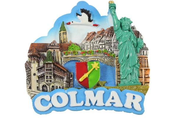 MAGNET EN RESINE COLMAR LIBERTY 6.5CM