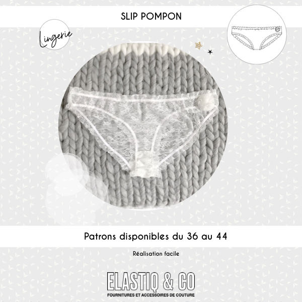 Patron slip pompom (matière rigide)