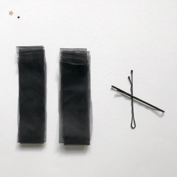 Kit petite barrette à pompon coloris noir