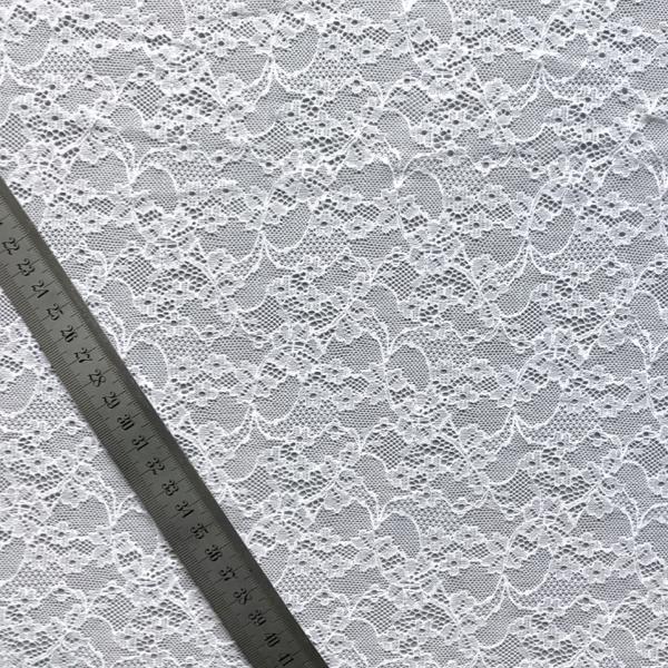 Dentelle grande largeur petites fleurs blanc