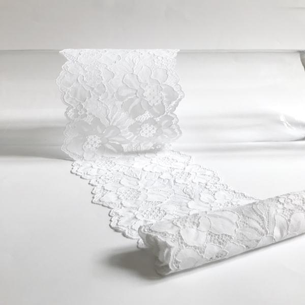 Dentelle florale blanc