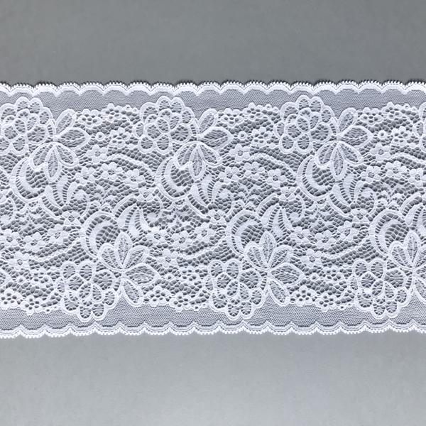 Dentelle florale blanc en galon