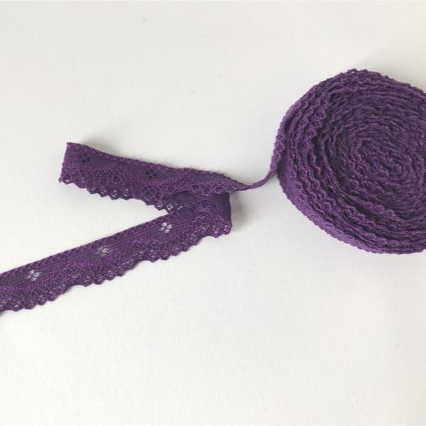 Bordure dentelle élastique violet