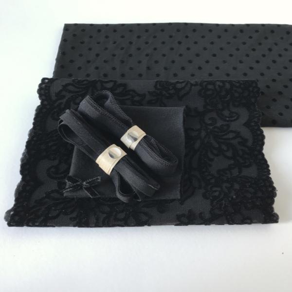 Kit lingerie velours noir