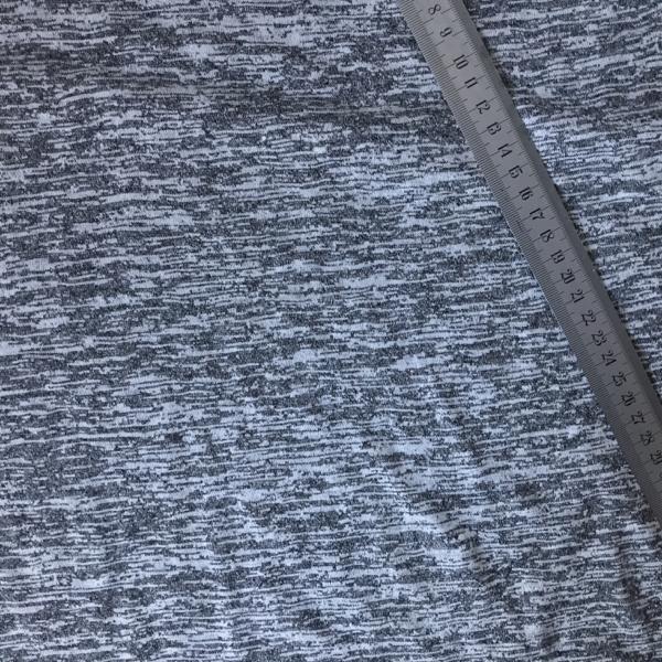 Maille chinée gris et noir