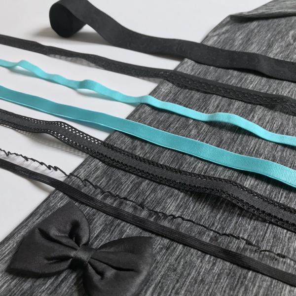 Kit Lingerie sport turquoise et noir - gris chiné