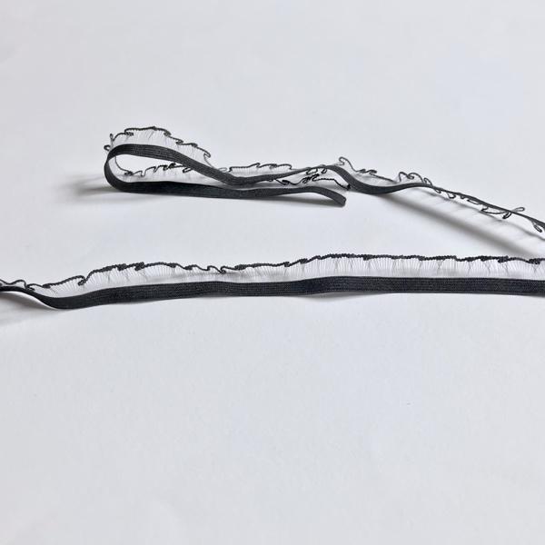 Elastique avec picot et fils transparent