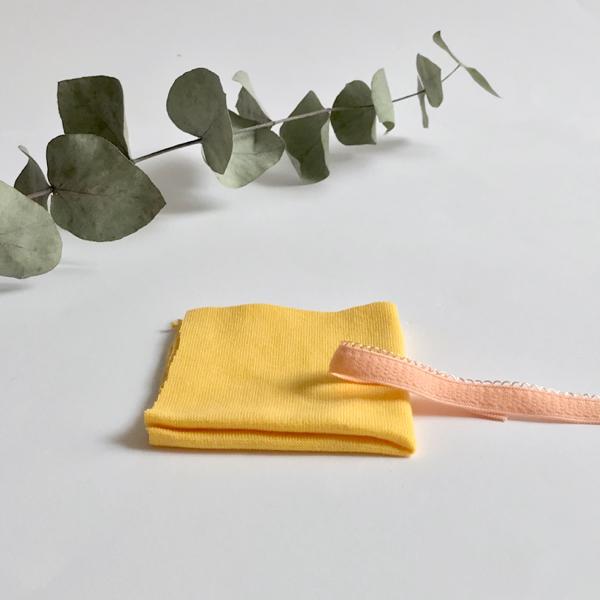 Kit lancement culotte fantaisie jaune et corail