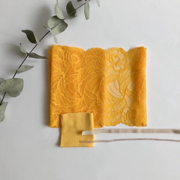 Kit culotte dentelle jaune