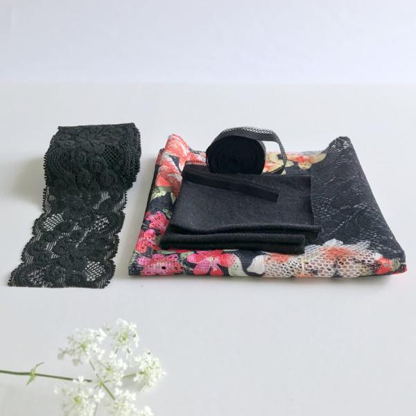 Kit Tanga Plume - DUO - Dentelle imprimée fleurs des îles