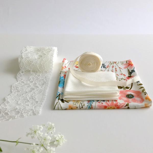 Kit Tanga Plume - DUO - Imprimé fleurs des champs