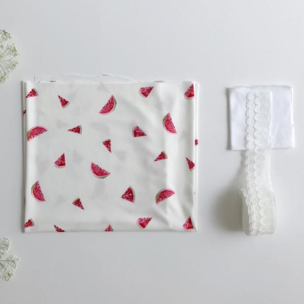 Kit Boxer PLUME lingerie à coudre imprimé pastèques
