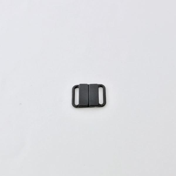 Fermoir Maillot de Bain Plastique noir 13 mm