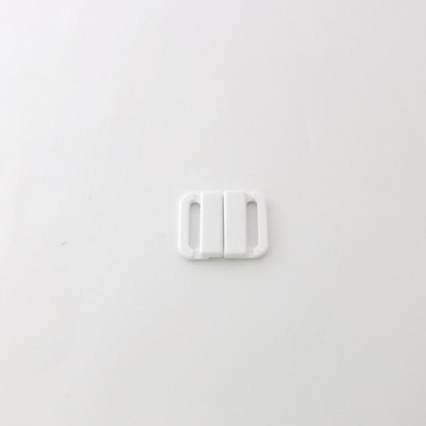 Fermoir Maillot de Bain Plastique blanc 15 mm