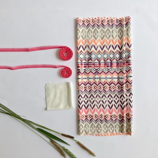 Kit slip basique lingerie à coudre imprimé ethnique
