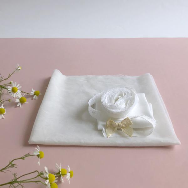 Kit slip basique lingerie à coudre dentelle blanche