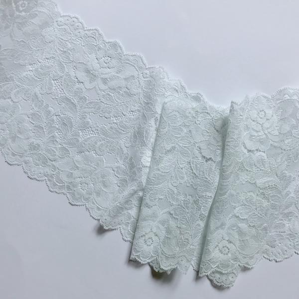 Dentelle florale bleu arctique