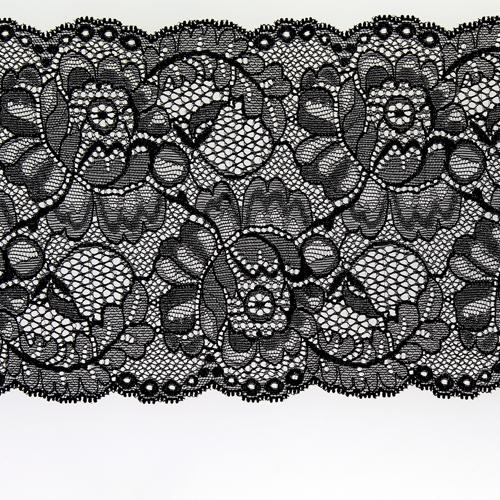 Dentelle florale noire