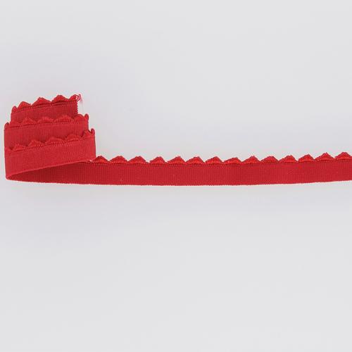 Elastique rouge fantaisie brillant avec grand picot