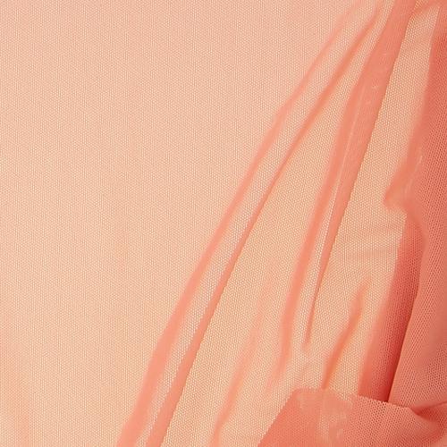 Tulle élastique rose marocain