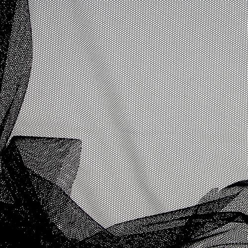 Tulle doux rigide noir pour doublure soutien-gorge