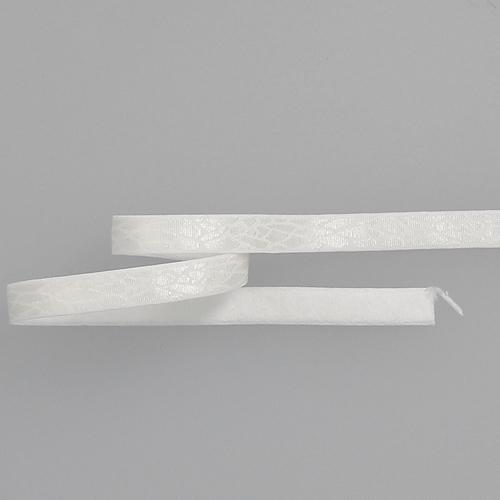 Bretelle fantaisie blanc motif écailles