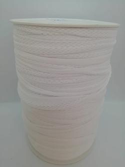 Trapilho jersey lycra stretch blanc résille