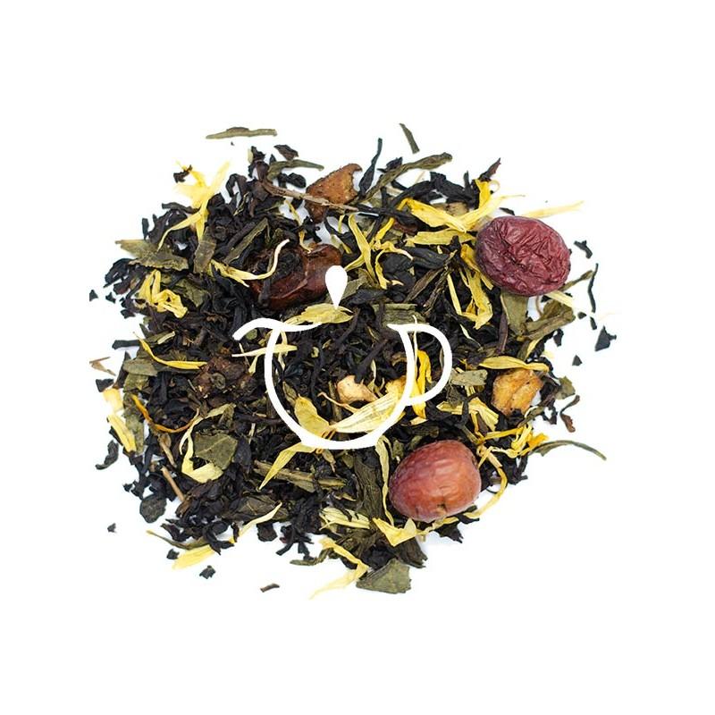 Thé noir et vert l\'Ile aux trésor BIO