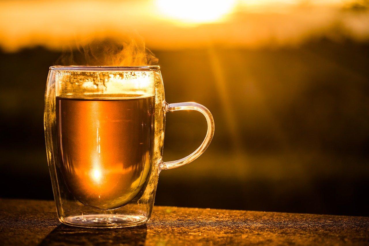 Thé noir coucher de soleil