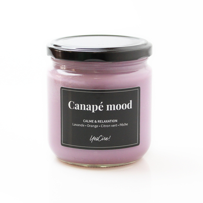 "Canapé mood   Bougie ""calme & relaxation"""