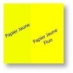 """Papier Affiche Jaune Fluo M1 - 17"""" - 43.2cm x 35m"""