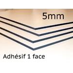 Panexpan 5mm Adhésif 1 Face - ( PVC Âme noire )
