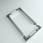 Profilés aluminium anodisé adhésifs avec angles d'assemblage ( la paire ) - Débord 22 mm