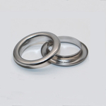 Œillets métalliques chromés en acier inoxydable